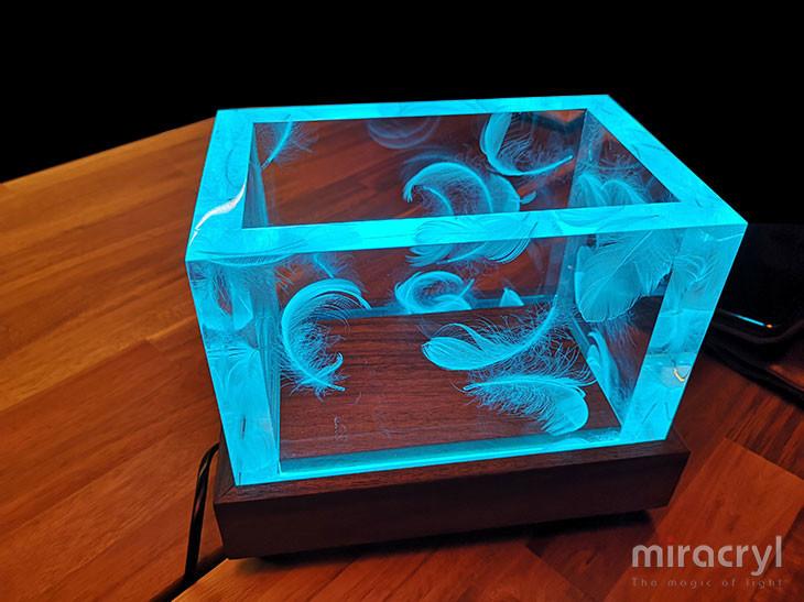 "Design-Tischlampe acrylic couture ""vento"""