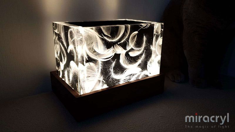 "Designlampe acrylic couture ""vento"""
